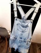 Ogrodniczki krótkie spodenki jeans dżins Cropp XS...