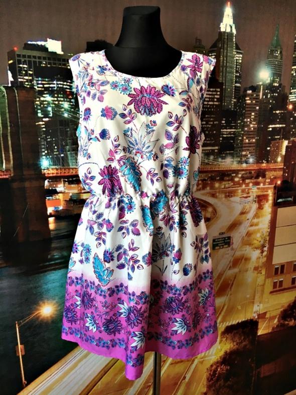 pacocks sukienka jak nowa kwiaty zwiewna floral hit 42