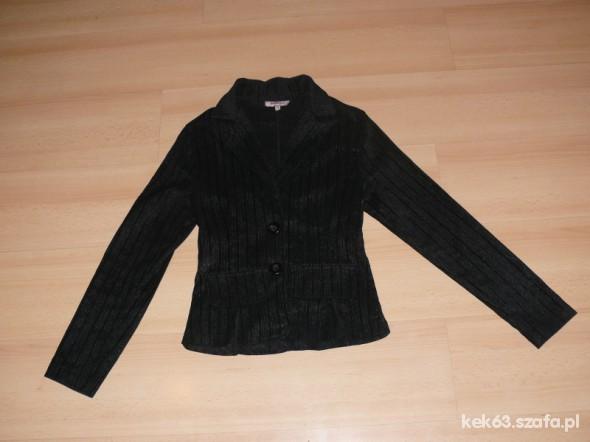 Okazja extra czarna elegancka marynarka 36