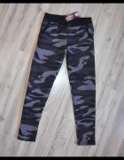 Nowe ocieplane bawełniane spodnie z kieszeniami tregginsy leggi...