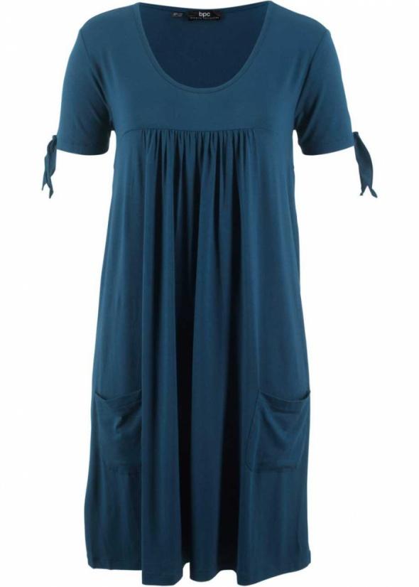 Shirtowa sukienka wiązane rękawy luźna wygodna...