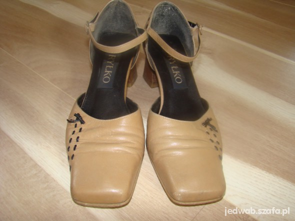 Brązowe sandałki Ryłko r38
