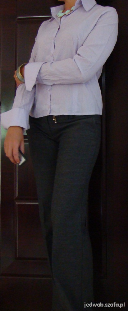 Liliowa bluzka z kreszu rozmiar S lub M