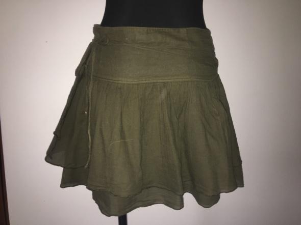 Spódnice Zara Basia spódnica zieleń khaki S na M