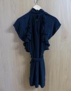 Sukienka jedwabna mini czarna French Connection rozmiar S
