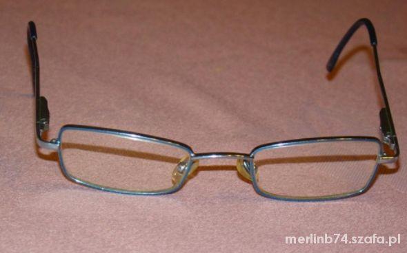okulary korekcyjne niebieski metalowe dla dziewczy
