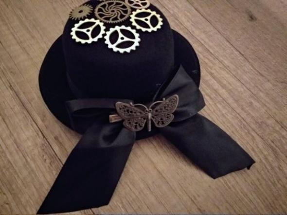 Mini Kapelusz kapelusik steampunk motyl victorian
