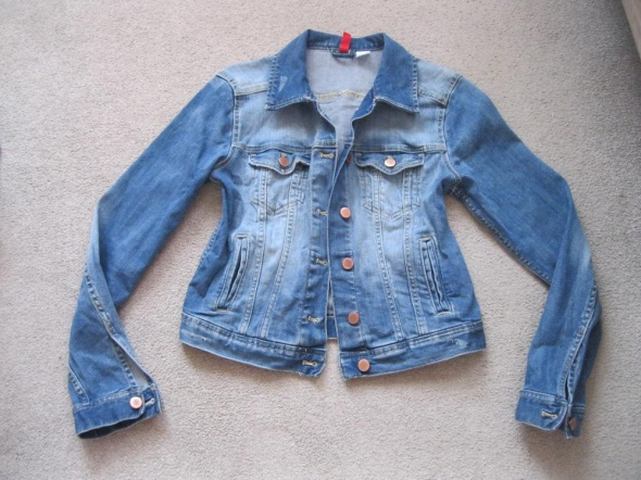 kurtka katana jeans H&M 40 skinny niebieska