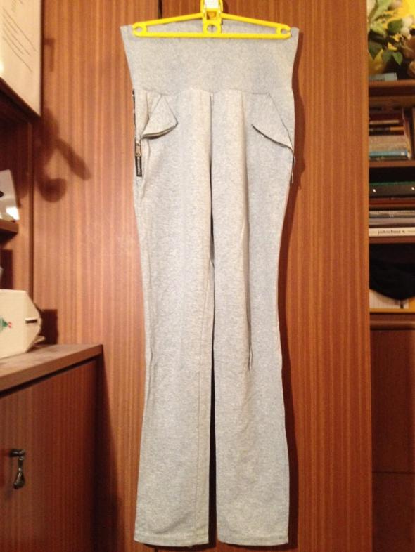 Spodnie dresowe jak legginsy z kieszeniami XS S M 34 36 38 elastyczne ciążowe ciążowy pas