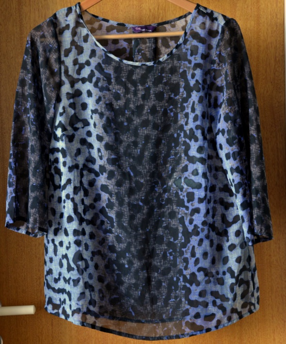 Prześwitująca bluzka koszula Twiggy dla Marks&Spencer centki