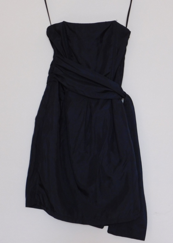 Zara czarna gorsetowa sukienka 36