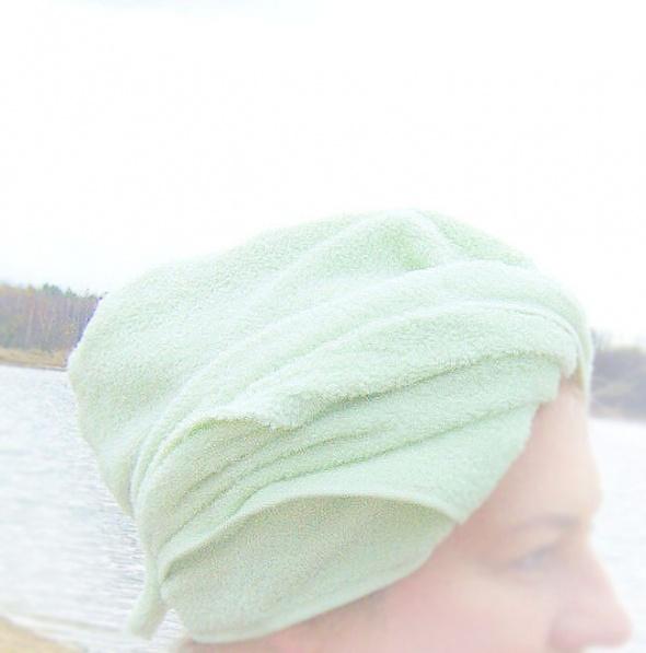 Kąpielowy turban miętowy