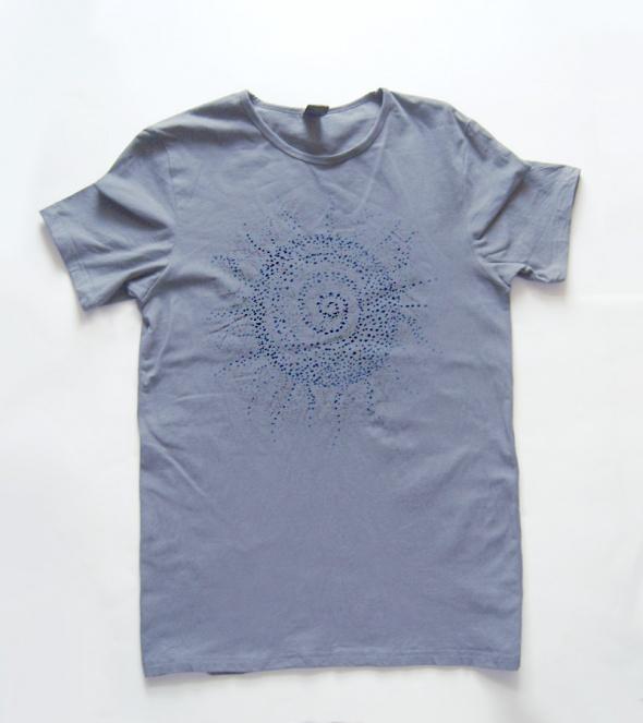 Szara koszulka Ethnic sun rozmiar L