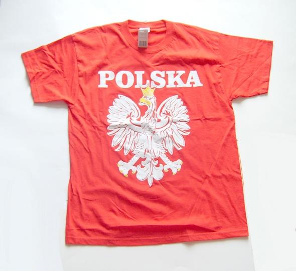 Polska i orzełek koszulka orzeł koszulka czerwona