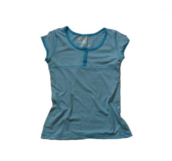 Yd bawełniana bluzeczka w drobne paseczki 146