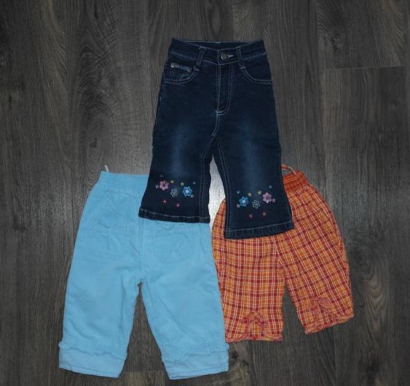 Dla dziewczynki trzy pary spodni 74