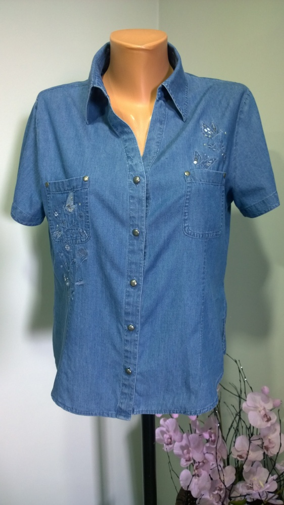 koszula jeansowa haft 40 42