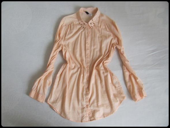 H&M długa koszula pastelowa mgiełka 40 L oraz 42 XL