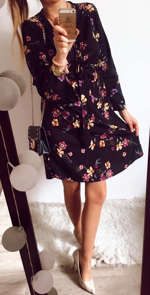 Sukienka Damska w kwiaty New Look S