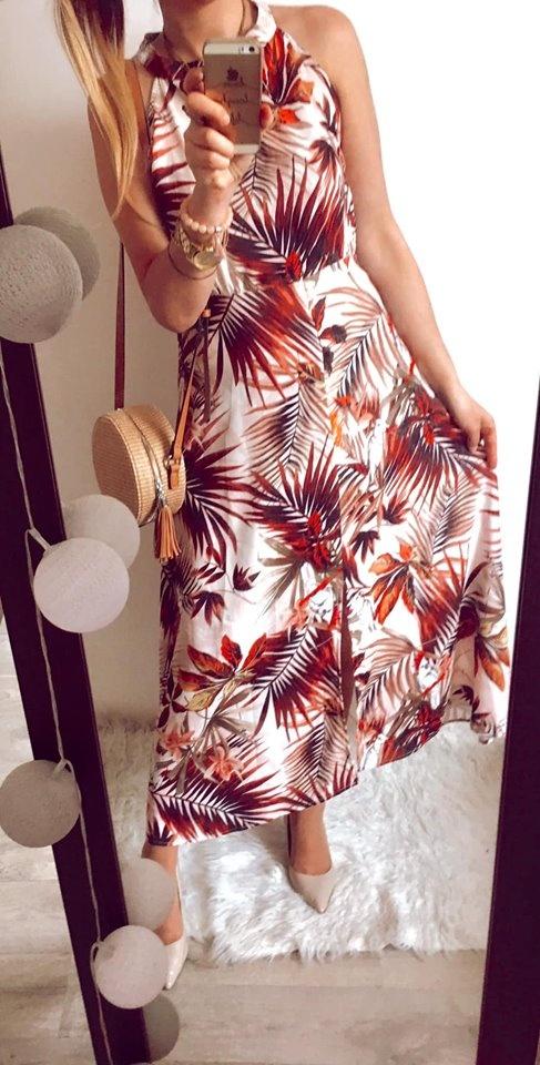 Sukienka Damska w kwiaty elegancka M