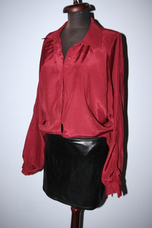 Bluzki Bordowa bluzka tunika oversize