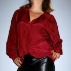 Bordowa bluzka tunika oversize