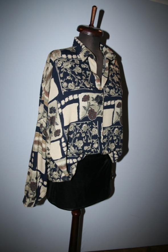 Bluzki Bluzka koszulowa tunika oversize