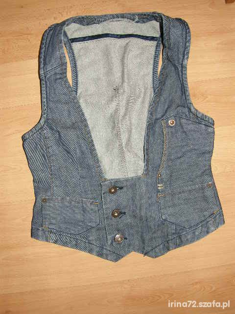 Fajna jeansowa kamizelka M