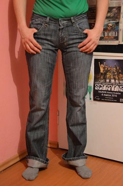 Jeansowe spodnie...