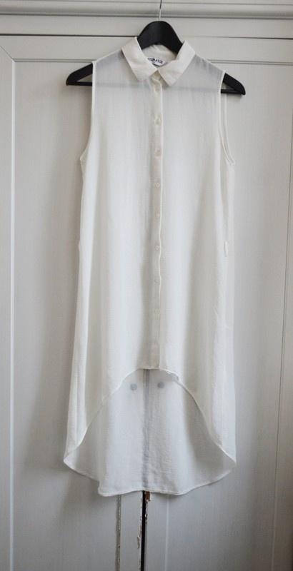 Długa asymetryczna koszula mgiełka M L 38 40