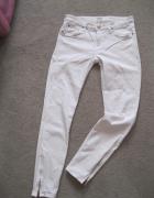 spodnie rurki LEE S białe przed kostkę...