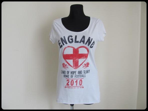 Biała bluzka z nadrukiem tshirt koszulka rozmiar 42 XL...