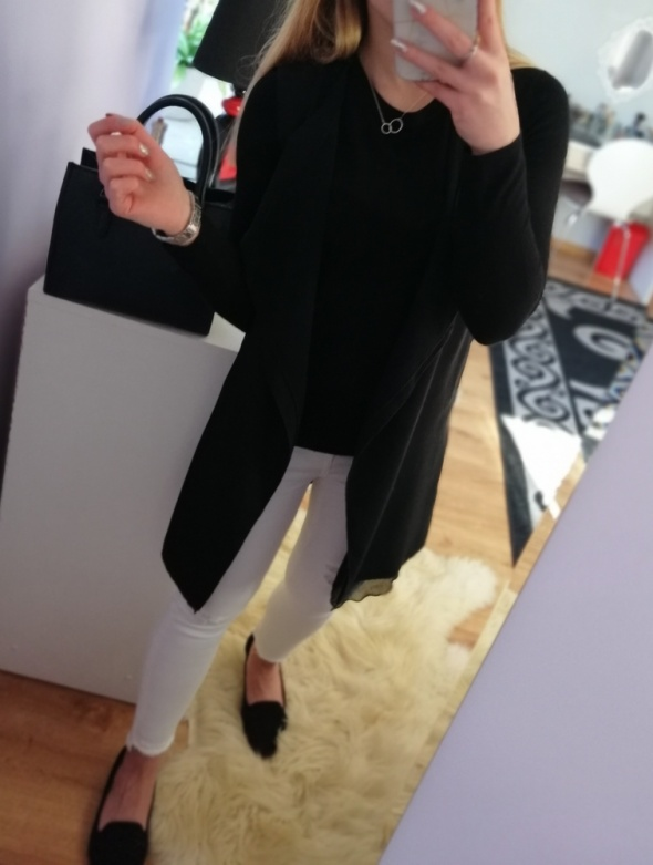 Kamizelki Czarna long kamizelka New Look