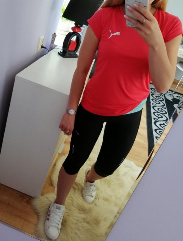 Czarne legginsy 3 4 Nike
