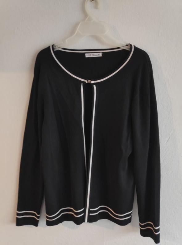 Czarny sweterek narzutka Four Seasons rozmiar M L