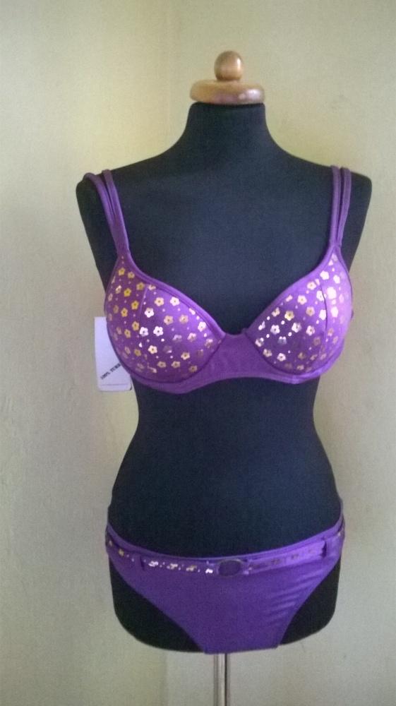 Fioletowy kostium strój kąpielowy