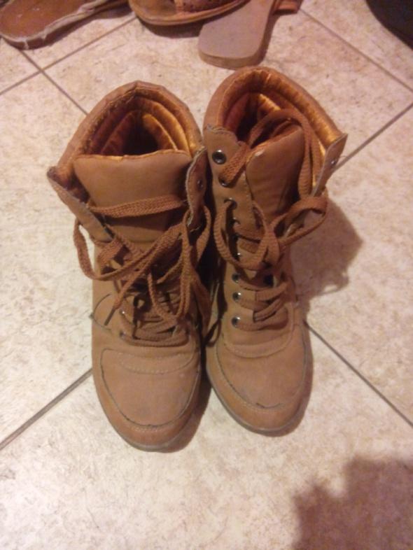 Buty na koturnach 37 38 używane