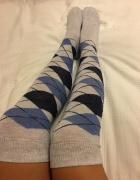Długie skarpetki za kolana...