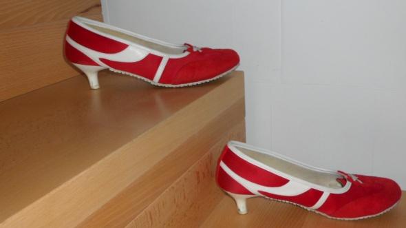 buty dla kibica bialo czerwoni 39 Graceland...