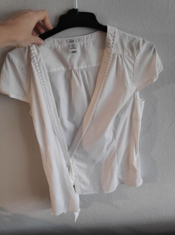 Biała bluzka kopertowa H&M 38...
