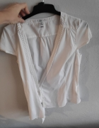Biała bluzka kopertowa H&M 38