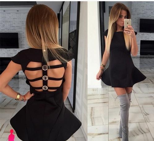 Przepiękna sukienka dwa kolory wycięcia na plecach