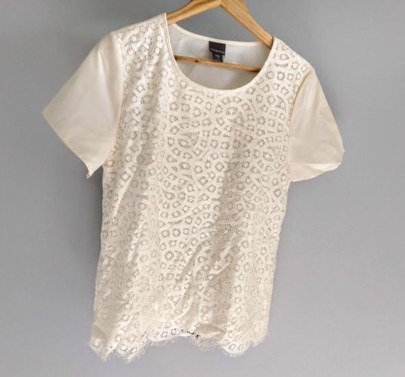 Koronkowa kremowa bluzka elegancka M...