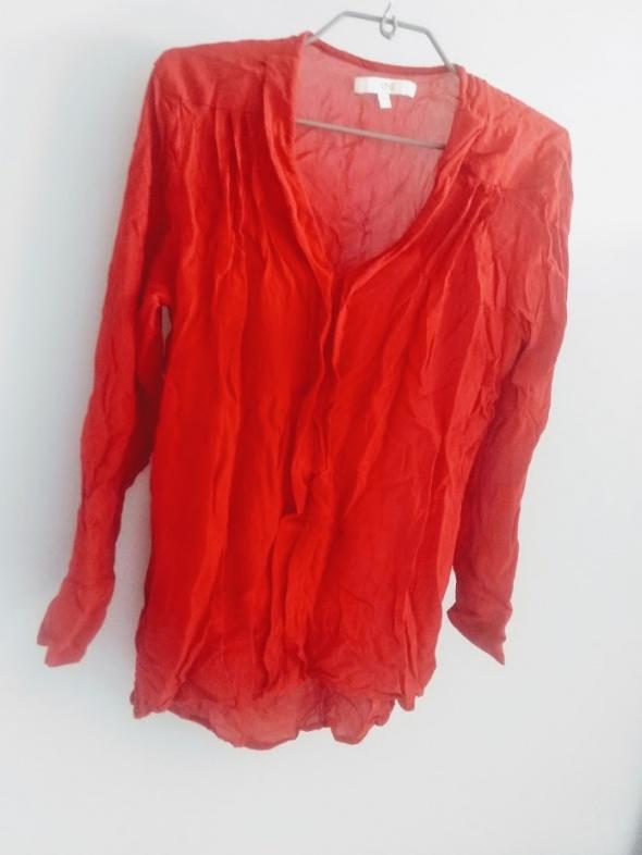 Bluzki Bluzka mgiełka z żorżety czerwona M next
