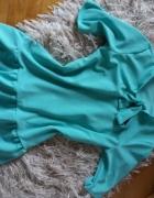 Mietowa bluzka z kokardka
