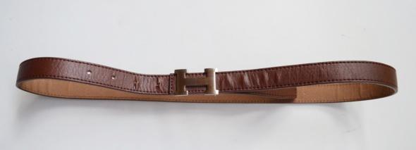 Pasek Brązowy Brąz Hermes 1065 cm H...