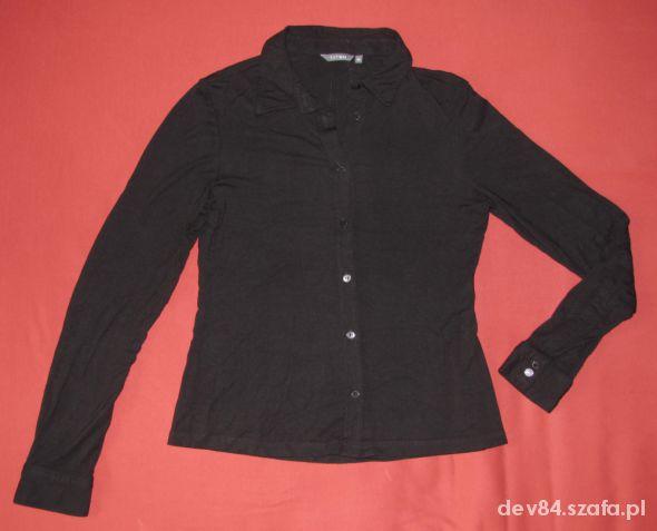 czarna bluzka koszulowa Tatuum...