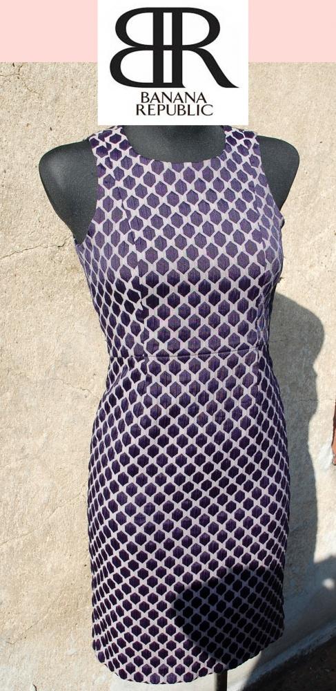 Banana Republic żakardowa modna sukienka XS