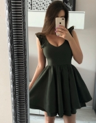 Sukienka rozkloszowana Sally Tenezito Khaki XS...