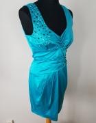 elegancka sukienka satynowa